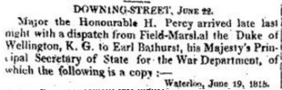 The Times, 22 June 1815