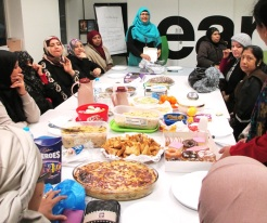 Mahbuba and the Monday ESOL group at New Year New You, Church Street Library, January 2016