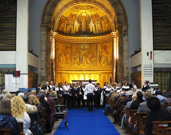 Joint Force Singers concert at the Guards' Chapel, 19 March 2016