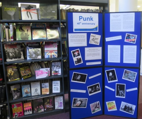 Punk at Forty exhibition, Westminster Music Library 2016