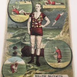1882 theatre playbill from the Royal Aquarium advertising William Beckwith. Image property of Westminster City Archives.