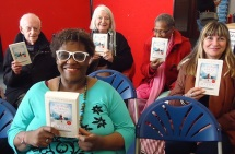Happy recipients of World Book Night books, April 2016