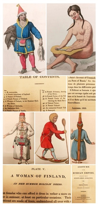Selection of images from Costume of the Russian Empire, by C W Müller, 1804