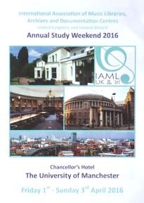IAML Study Weekend 2016