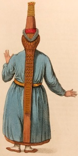 'Back of a Tcheremhisian Woman' - Costume of the Russian Empire, by C W Müller, 1804