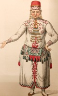 'A Female Mordvine' - Costume of the Russian Empire, by C W Müller, 1804