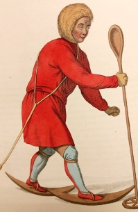 'An Ostiak' - Costume of the Russian Empire, by C W Müller, 1804