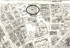 Ordnance survey map showing the Alhambra, 1916