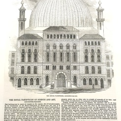 The Royal Panopticon, which became the site of the Alhambra Theatre. Illustrated London News, January 1852. Image property of Westminster City Archives