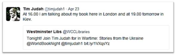 Tim Judah tweet 23 April 2016