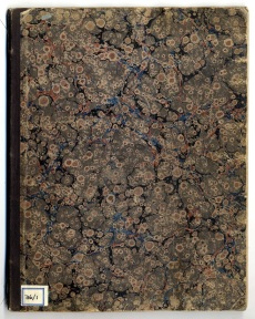 Cover of James Knowles diary, April 1854. Image property of Westminster City Archives