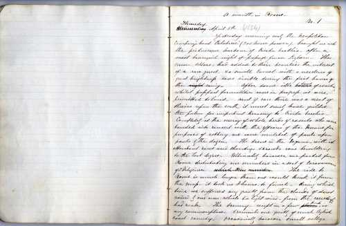 James Knowles diary, 6 April 1854. Image property of Westminster City Archives