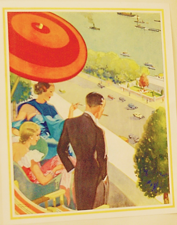 Illustration on the opening pages of the Dolphon Square brochure. Image property of Westminster City Archives