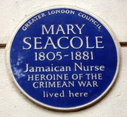Mary Seacole's blue plaque in Soho Square, London
