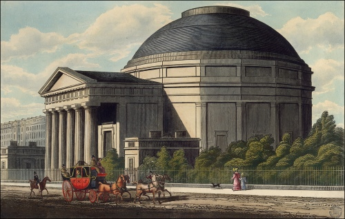View of Colosseum, Regent's Park, c1840. Image property of Westminster City Archives.