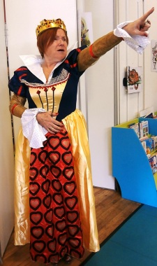 """""""Off with their heads!"""" Mad Hatter's Tea Party at St John's Wood Library, May 2016"""