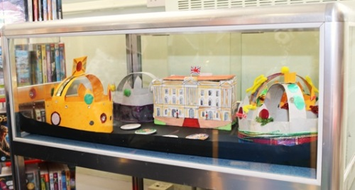 The 'Crown Jewels' on display for the Queen's 90th birthday, Maida Vale Library, June 2016