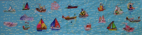 Remembering the Jubilee Flotilla for the Queen's 90th birthday, Maida Vale Library, June 2016