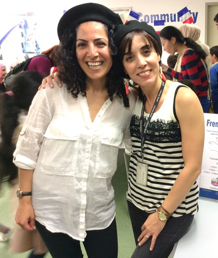 Devrim and Debora at the French Culture Day at Church Street Library, July 2016