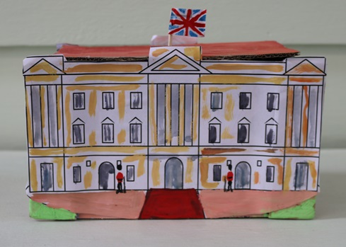 Making Buckingham Palace for the Queen's 90th birthday, Maida Vale Library, June 2016