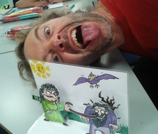 James Parsons and his Crazy Comic workshop at Paddington Children's Library
