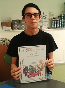 Zack, one of our Summer Reading Challenge 2016 volunteers