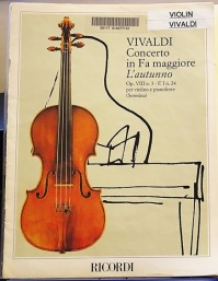 Autumn from the Four Seasons by Vivaldi, at Westminster Music Library
