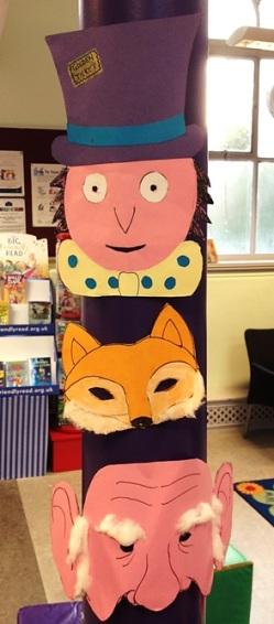 Dahl characters at Maida Vale Library's Roald Dahl centenary party, September 2016
