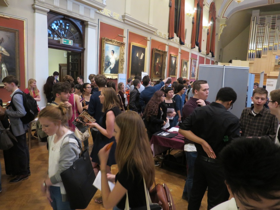 View from the Westminster Music Library stall at the Royal Academy of Music's Freshers' Fair 2016