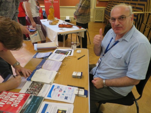 Barry from Marylebone Library at the Royal Academy of Music's Freshers' Fair 2016