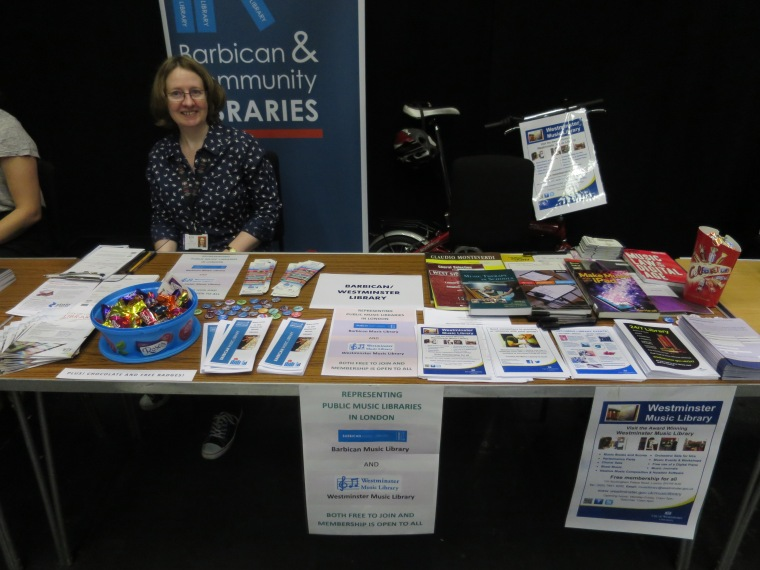 Jacky from Barbican Music Library at the Guildhall School of Music and Drama's Freshers' Fair 2016
