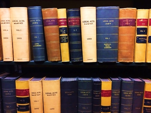 19th century Local Acts available at Westminster Reference Library 2016