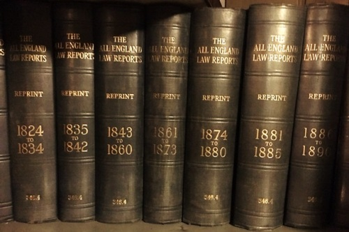 All England Law Reports (19th century) at Westminster Reference Library 2016