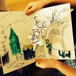 Big Friendly Read 2016 - pop up card making at Maida Vale Library