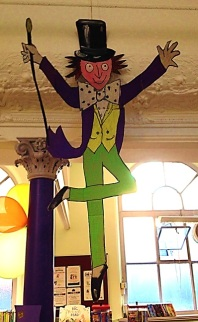 Willy Wonka at Maida Vale Library's Roald Dahl centenary party, September 2016