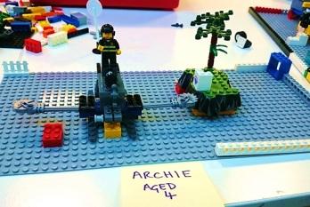 Pimlico Library Lego Club creations, September 2016