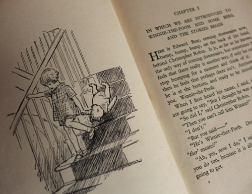 Opening page of Winnie the Pooh by A A Milne