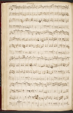 Henry Purcell: Chacony (MSS British Library)