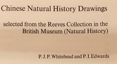 Chinese Natural History Drawings selected from the Reeves Collection, 1974 - title page