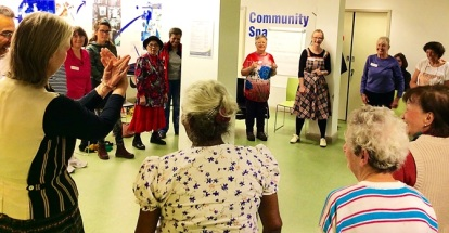 Impro for Elders - Improbable Theatre working with local older people at Church Street Library, November 2016