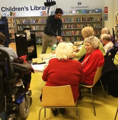 Home Library Service usersattend performance by Librarian Theatre at Pimlico Library, December 2016
