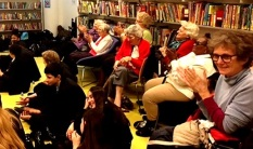 Pimlico Academy students and HLS users enjoy 'A Christmas Carol' by Librarian Theatre, Pimlico Library 2016