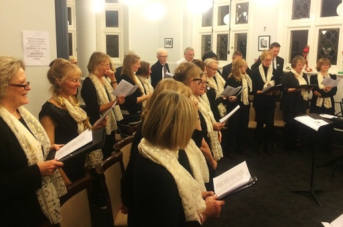 Mayfair Community Choir at Mayfair Library, November 2016