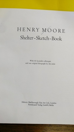 Title page from 'Shelter Sketch Book' by Henry Moore