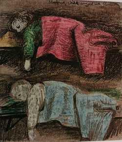 Sketch from 'Shelter Sketch Book' by Henry Moore