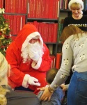 Father Christmas came to the under fives' Christmas party at Westminster Music Library! December 2016