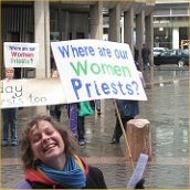 Women priests - campaign banner. Photo by Simon (good cause1) on Flickr