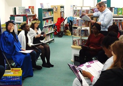 Westbourne Park Baptist Church Community choir at Paddington Library, December 2016