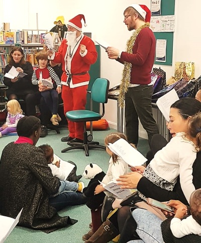 Under Fives' Christmas Party at Paddington Library, December 2016