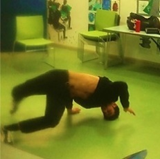Breakdancing at New Year New You event, Church Street Library January 2017